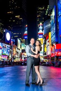Times Square Engagement Photos